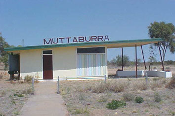 The Muttaburra airport terminal.
