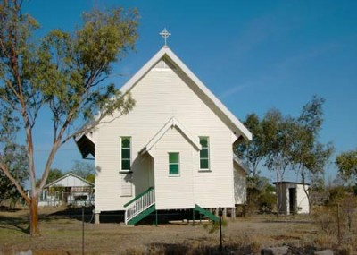 The Anglican Church in Muttaburra.