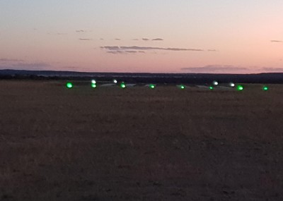 Lights from top end
