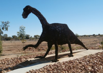 Barb - Muttaburrasaurus replica made from barbed wire
