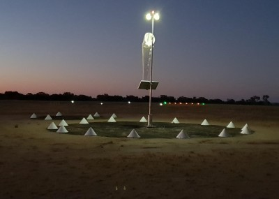 Wind sock with lights