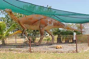 A dinosaur replica
