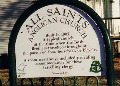 Sign for Anglican Church