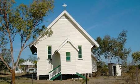 The Anglican Church in Muttaburra.
