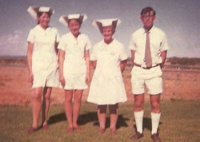 Hospital staff in 1973