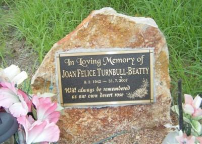 Joan Turnbull 08/02/1942 - 31/07/2007
