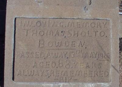Thomas Bowden 16/11/1895 - 12/05/1965