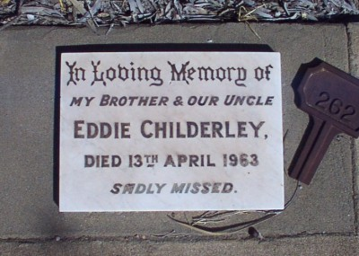 Edward 'Eddie' Childerley 01/12/1903 - 13/04/1963