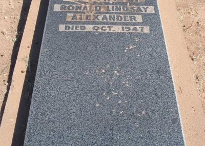 Ronald Alexander 04/08/1908 - 11/10/1947