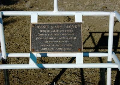 Jessie Lloyd 20/03/1874 - 20/09/1885