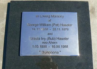 Ursula 'Bub' Haseler 01/03/1908 - 16/08/1988