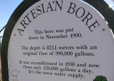 Artesian Bore Signage
