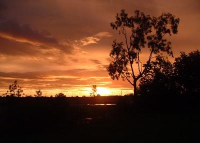 Muttaburra sunset
