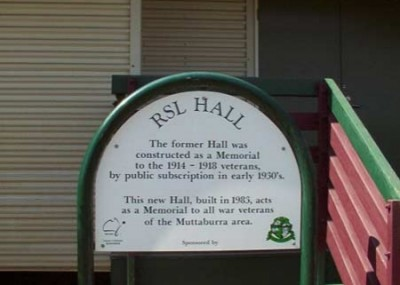 Sign for RSL Hall