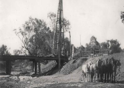 First Bridge Over the Thomson at Muttaburra