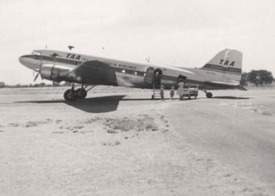 TAA on the Muttaburra Air Strip