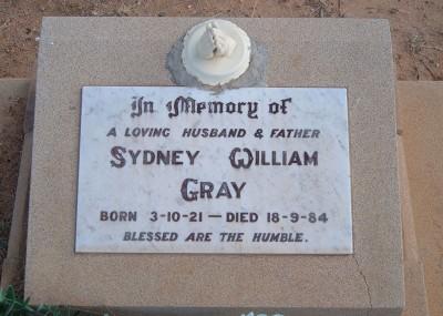 Sydney Gray 03/10/1921 - 18/09/1984