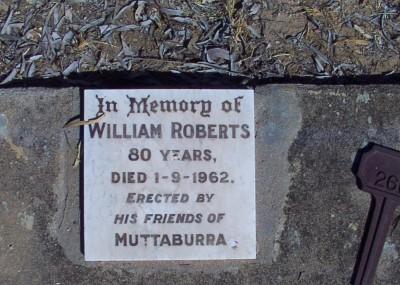 William Roberts  - 01/09/1962
