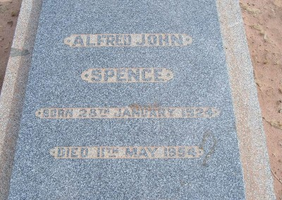 Alfred Spence 28/01/1924 - 11/05/1954