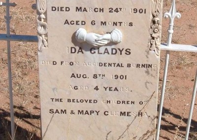 Ida Clemesha 16/04/1897 - 08/08/1901