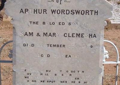 Arthur Clemesha 16/01/1888 - 22/09/1909