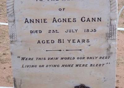 Annie Cann  - 23/07/1895