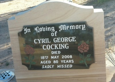 Cyril Cocking headstone